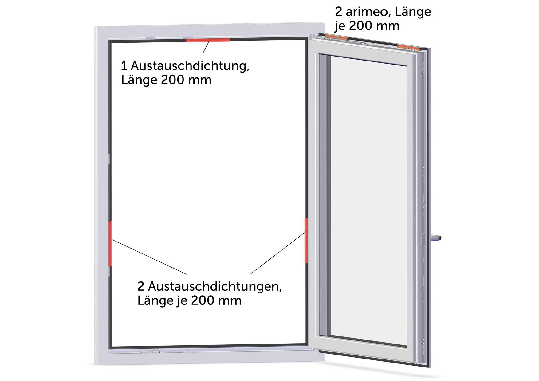 arimeo classic S Fensterfalzlüfter Einbauvariante double