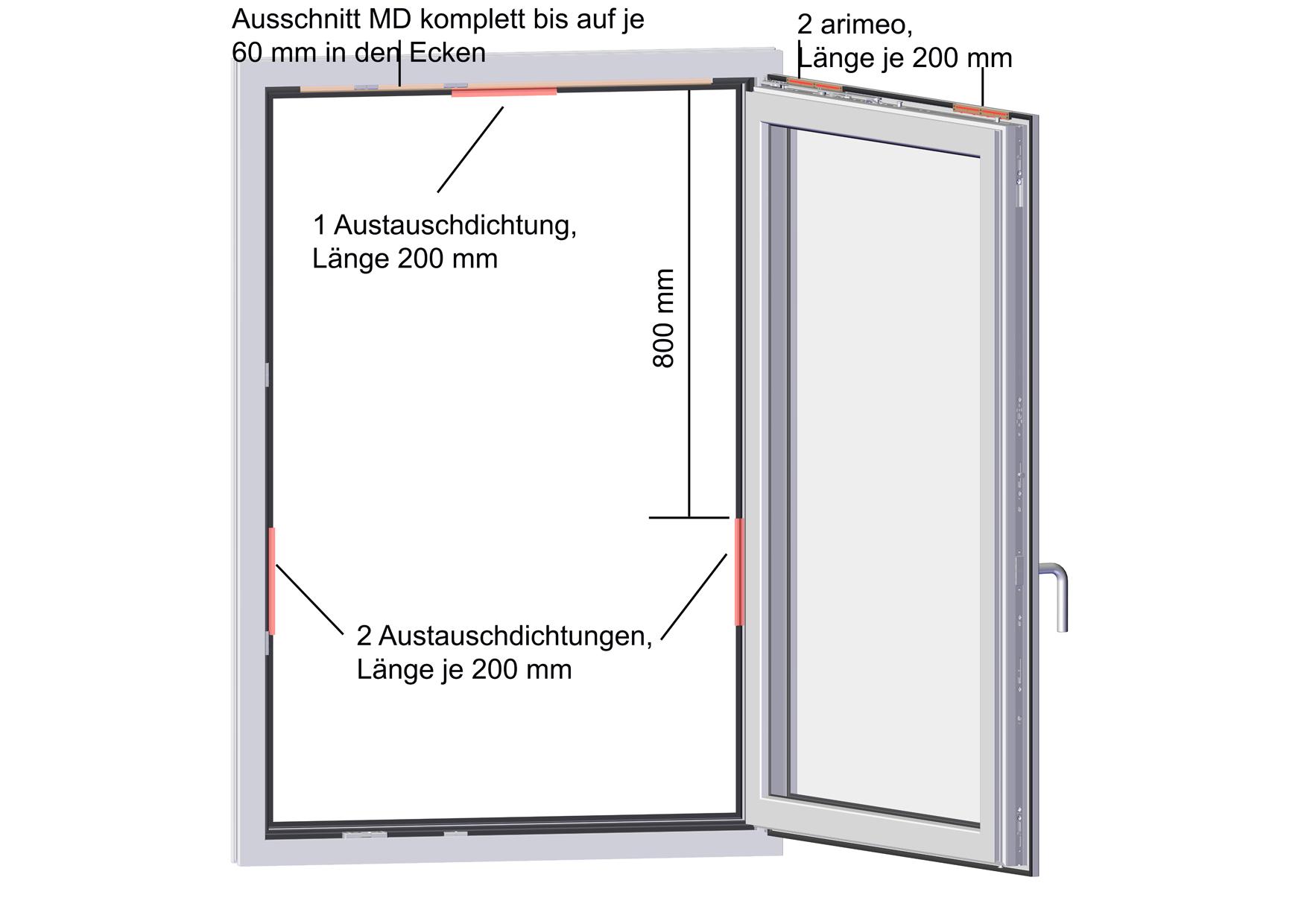 arimeo classic S Fensterfalzlüfter Einbauvariante double MD