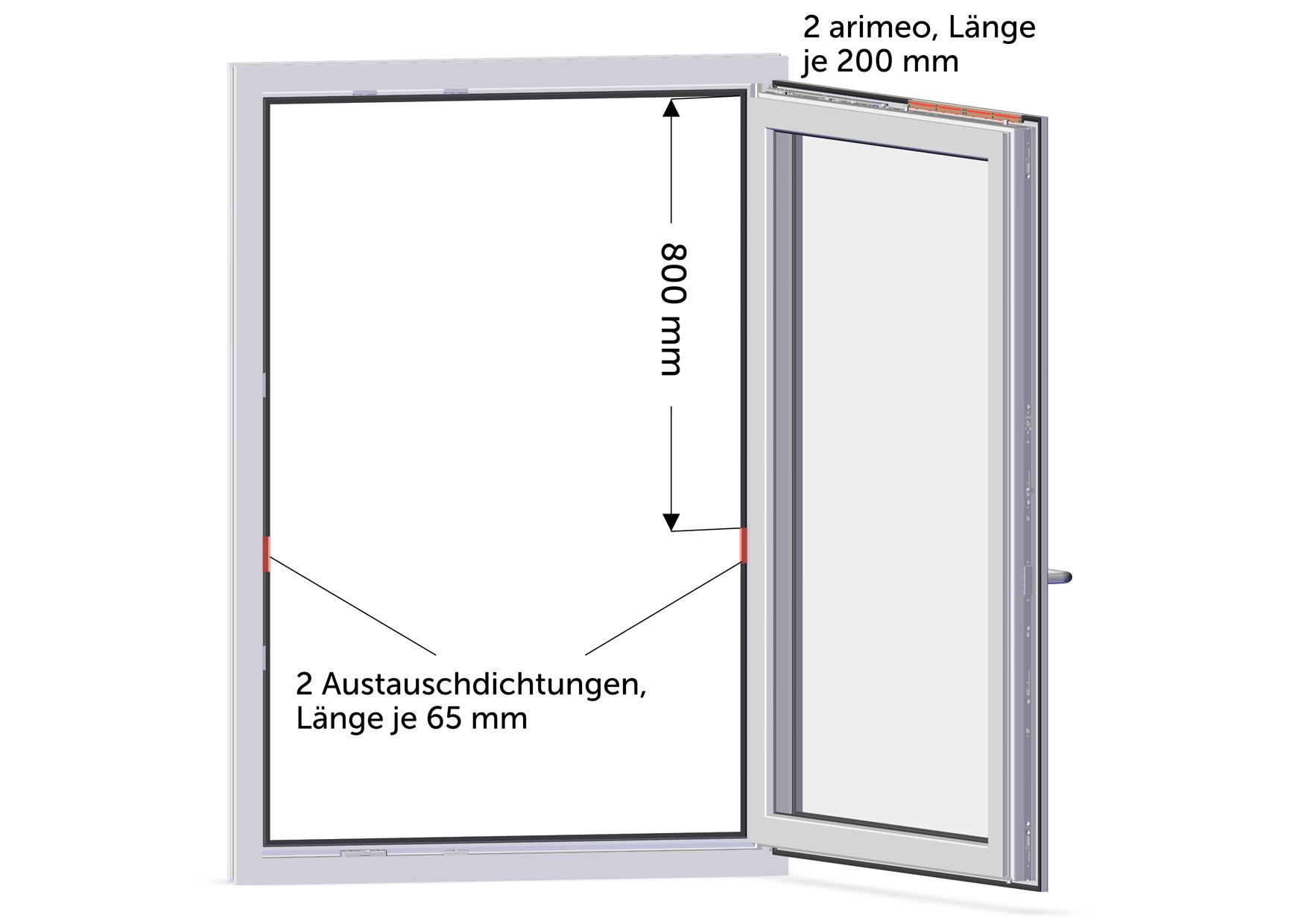 arimeo classic S Fensterfalzlüfter Einbauvariante double acoustic