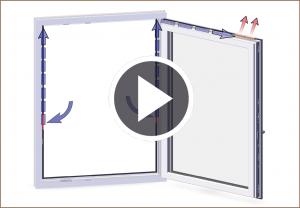 arimeo classic S Funktionsweise Luftstromregulierung des Fensterfalzlüfters