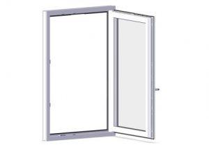arimeo classic S - Fensterfalzlüfter unsichtbar und immer oben platziert