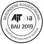 Siegel der besonderen Auszeichnung beim Innovationspreis Architektur+Bauwesen 2019