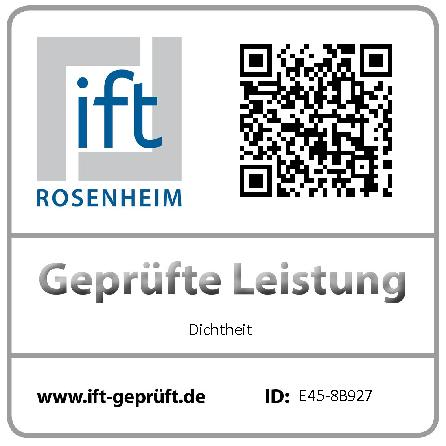 QR Code um den Klassifizierungsbericht von arimeo CS zu scannen. Durchgeführte Prüfungen beim ift Rosenheim