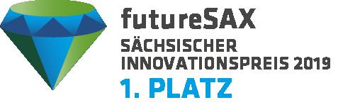 Logo futureSAX Sächsischer Innovationspreis 2019, 1. Platz